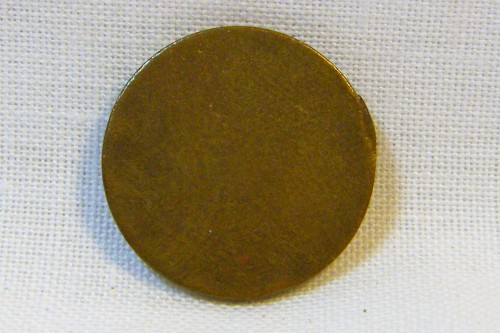 Blank South African half cent - used 1970 to 1983 - RARE