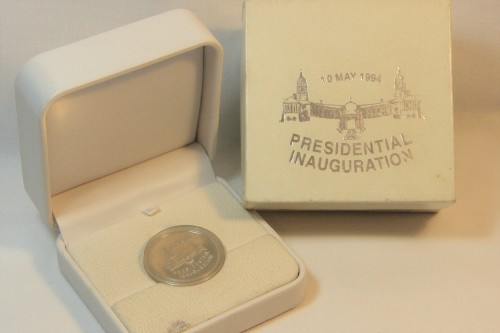 1994 RSA proof silver R1 VIP Presidential Inauguration in white box