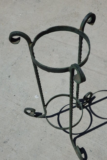 Stands A Gorgeous Wrought Iron Plant Stand With A Large