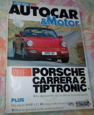 AUTOCAR & MOTOR MAGAZINE 23 MAY 1990 ( PORSCHE CARRERA 2 TIPTRONIC , LANCIA  DEDRA , MERCEDES 300D ) | bidorbuy co za