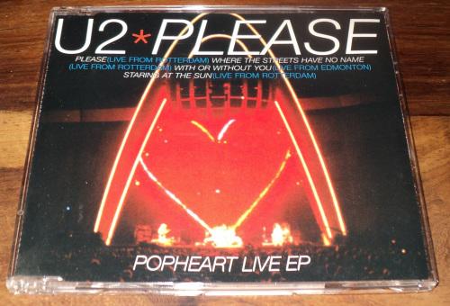 U2 - Please (Popheart Live EP) (CD single)