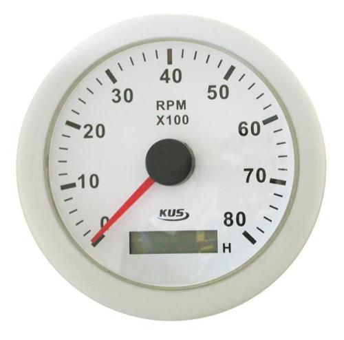 White Hour Meter : Parts accessories marine analogue rpm tachometer
