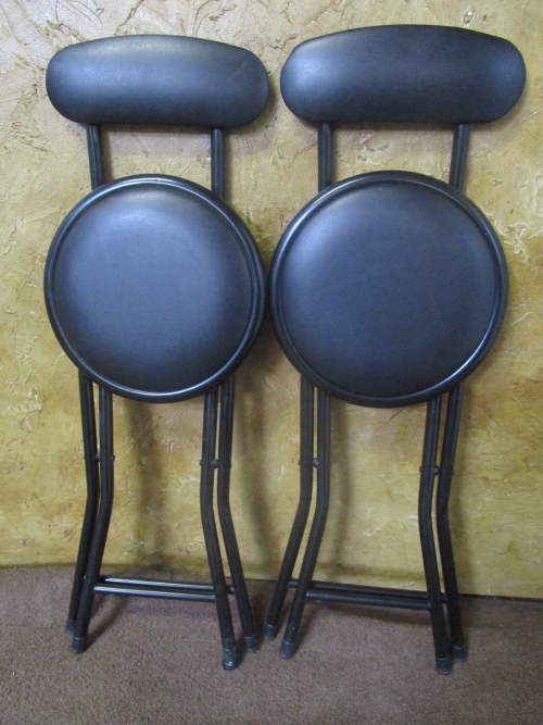 Chairs Stools & Footstools TWO FANTASTIC FOLD UP HIGH CHAIRS PERFECT F