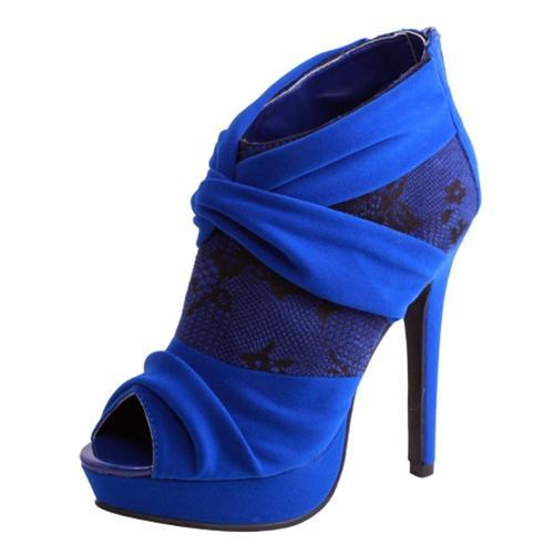Heels Royal Blue Bootie Heels Size 7 And Size 8 Was