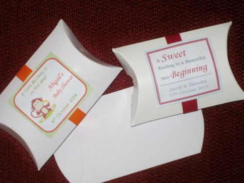 Wedding Favours & Gifts - DIY Pillow Boxes- Pack of 100 was sold for ...