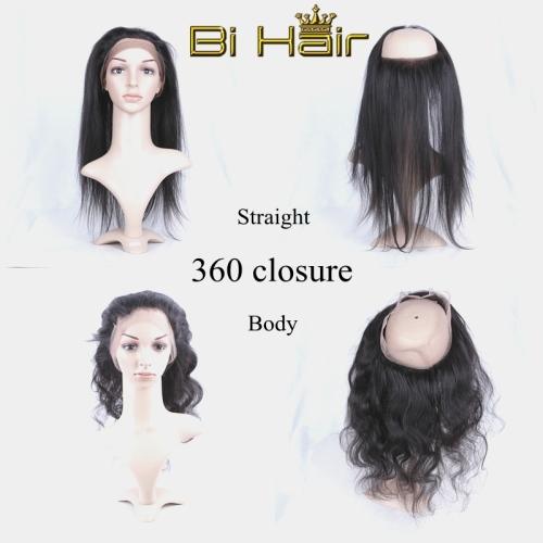 Human Hair Brazilian Hair Weave Straigth Body 360 Lace Closure Ear To Ear Closure Was Sold