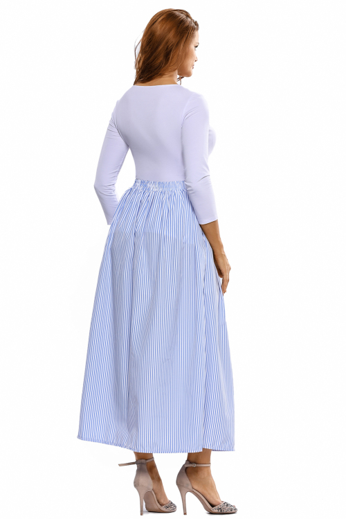 Skirts - BLUE AND WHITE STRIPED FRONT BUTTON MAXI SKIRT - S/M/L was listed for R269.00 on 31 May ...