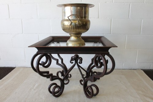 Tables A Remarkable Wrought Iron Coffee Table With A
