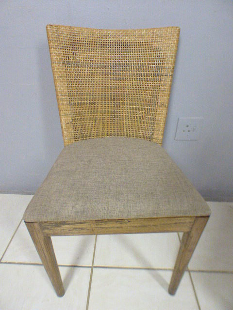 Chairs Stools Footstools Three Fabulous Vintage Rattan Backed Dining