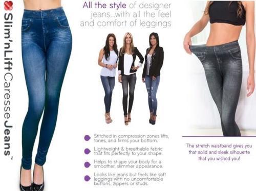 87c42ff6f49b NEW Slim N Lift Caresse Jeans Skinny Body Shaper Jeggings Shapewear. Random  Color is sent Between Blue and Black. Size M,L and XL
