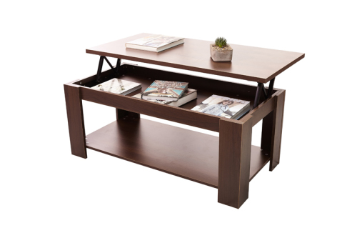 Tables hazlo lift top coffee table modern design white for White and brown coffee table
