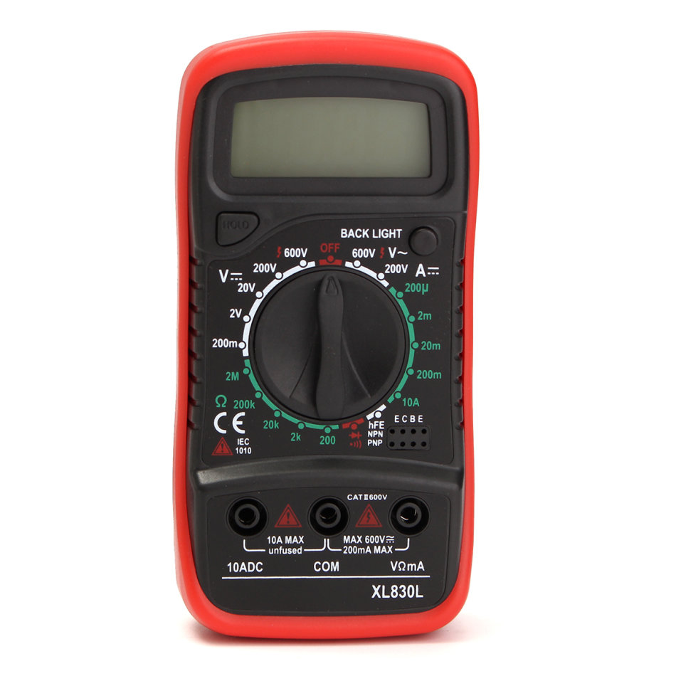 Ac Dc Digital Voltmeter Kit : Test equipment xl l lcd digital multimeter voltmeter
