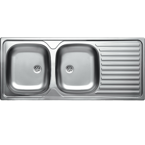Sinks amp taps double bowl contract sink satin finish was listed for