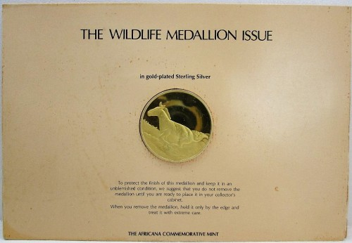 The Wildlife Medallion Issue In Gold-Plated Sterling Silver 50th  Anniversary Coin - The Africana
