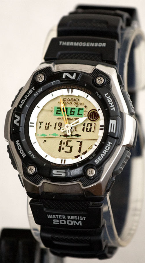 Stopwatches sport watches casio aqw101 1a mens watch for Casio fishing watch