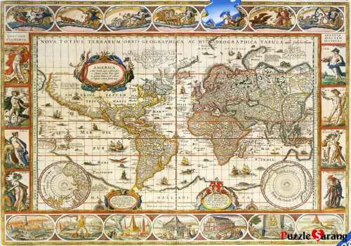 Antique World Map Puzzle.Jigsaw Puzzles Ravensburger Puzzle No 166336 Antique World Map