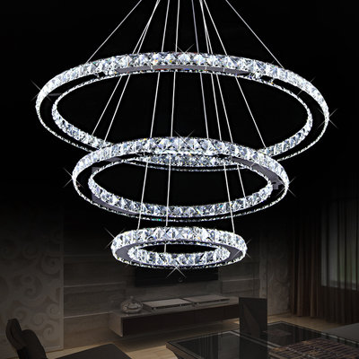 Chandeliers crystal circle pendant led chandelier was sold for r1 crystal circle pendant led chandelier aloadofball Image collections
