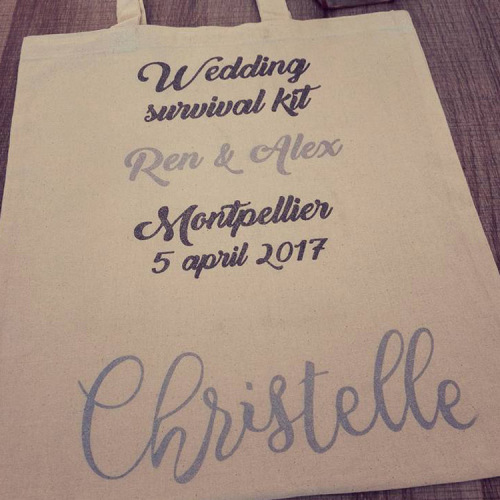 Personalised Wedding Gifts Cape Town : Gifts - wedding survival kit Personalised Tote Bags for sale in Cape ...