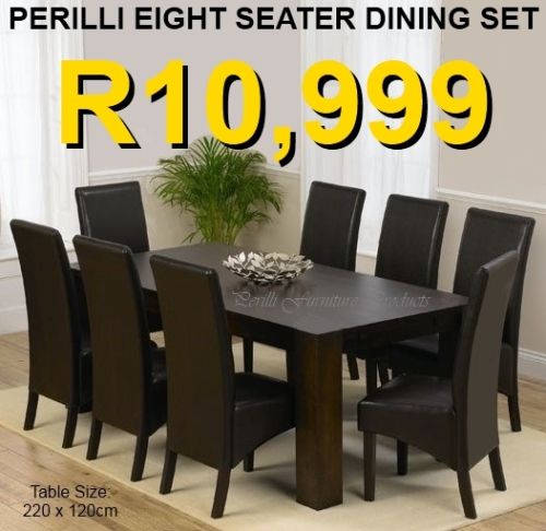 ... Available In PU Leather Or Bonded Leather In Black Or Brown Or White Or  Cream. The Table Is Supawood, But Also Available In Veneer For R2,500 Extra.