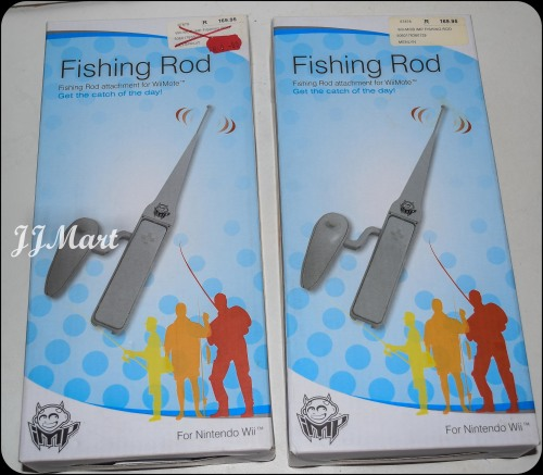 Controllers remotes 2 x nintendo wii fishing rod for Wii fishing rod