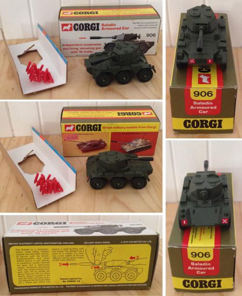 Corgi 906 Saladin Armoured Car Tank 1974 complete with original box