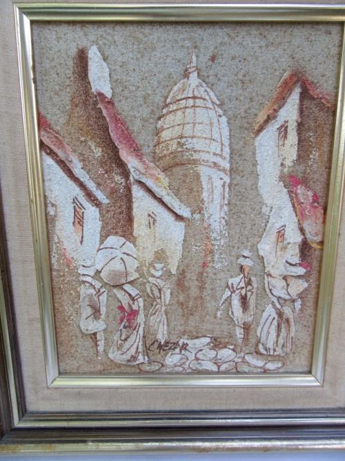 Paintings Unusual Sand Amp Oil Original Signed Art Work