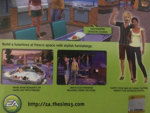 Games - PC - The Sims 3 - Outdoor Living Stuff was sold for