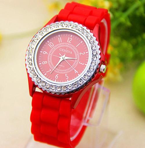 Часы наручные женские романсон красные