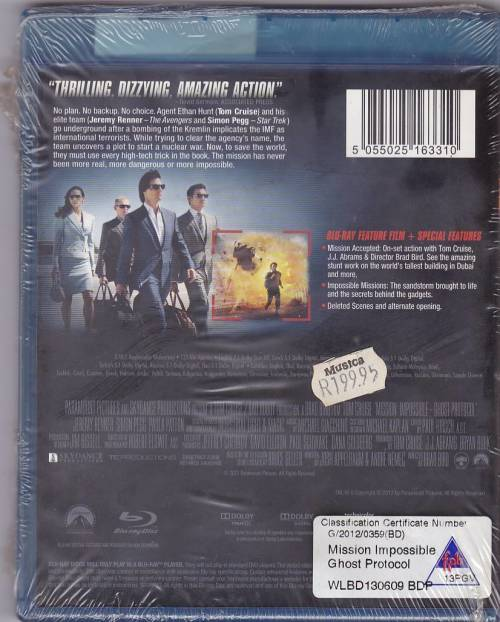 Movies - MISSION:IMPOSSIBLE/GHOST PROTOCOL - BLU-RAY for