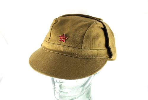 01bbb676a36 Genuine USSR Soviet Russian Army Military Afghanistan War Uniform Cap.  Original Red Star Badge.