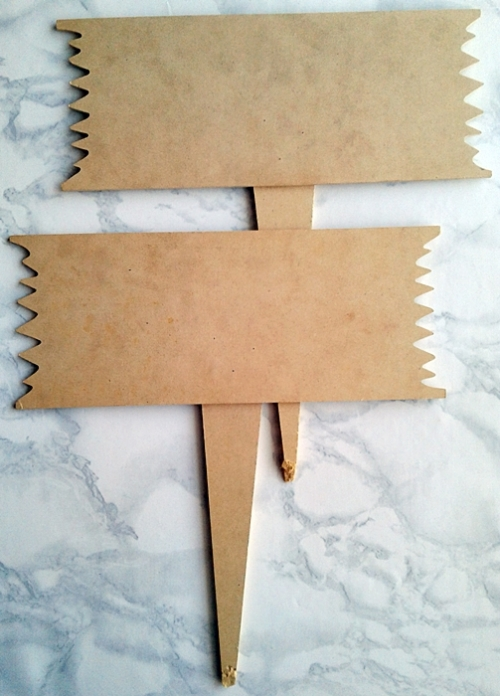 Large Wooden Garden Stakes X2 In Set
