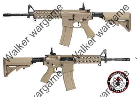 G&G GC16 Full Metal Combat Machine Raider-L Airsoft Rifle - Tan