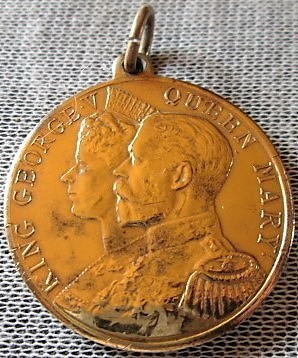 King George V and Queen Mary Coronation Medal 1911 Makers of Elect Cocoa