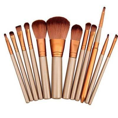 makeup sets  12 piece metallic makeup brush set was sold