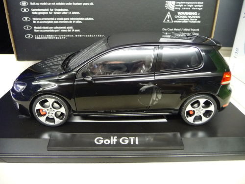 Die Cast VW Golf MK6 GTI By Norev Black NEW IN BOX 118 Car