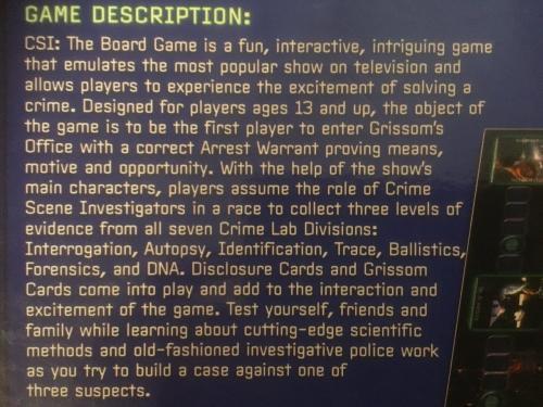 csi crime scene investigation board game instructions