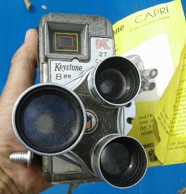 VINTAGE KEYSTONE -8mm MOVIE CAMERA K27CAPRI