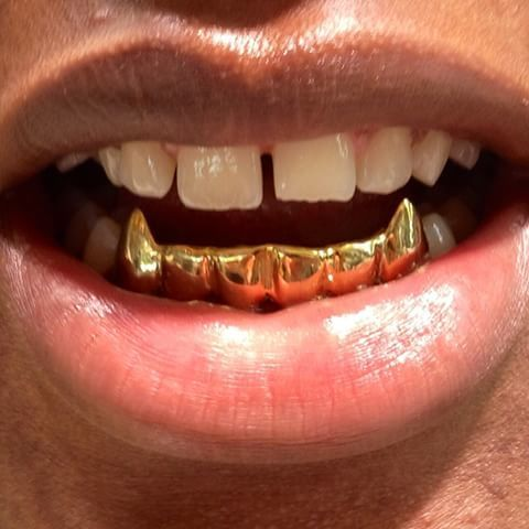Other Fashion Jewellery Hip Hop Gold Plated Fangs Teeth
