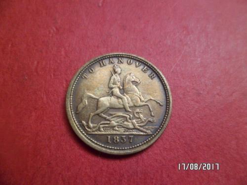 RARE TO HANOVER 1837 VICTORIA COIN