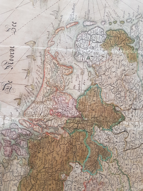 Maps  Original 17th century map of the Netherlands by Claes