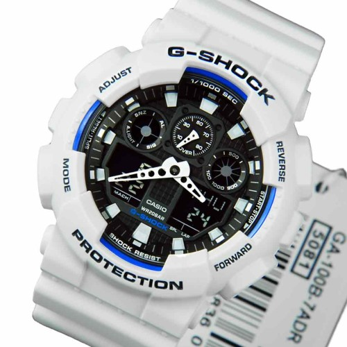 Mens watches original casio g shock ga100b 7a wrist watch white introducing a collection of new g shock models whose 35mm diameter faces and large cases give them a look of power and strength fandeluxe Choice Image