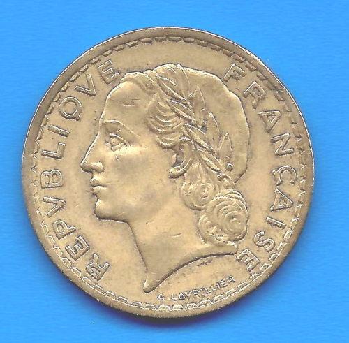 europe france 5 francs 1946 c rare by lavrillier bronze. Black Bedroom Furniture Sets. Home Design Ideas