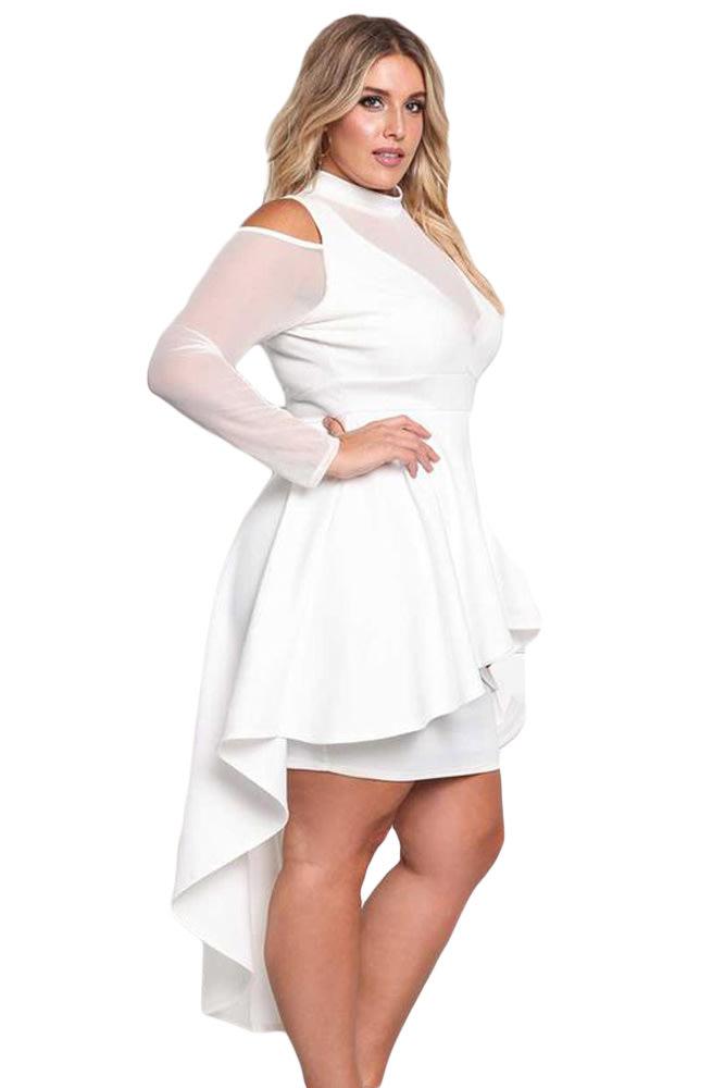 Formal Dresses Dressesdresspeplum Dresswhite Dressplus Size