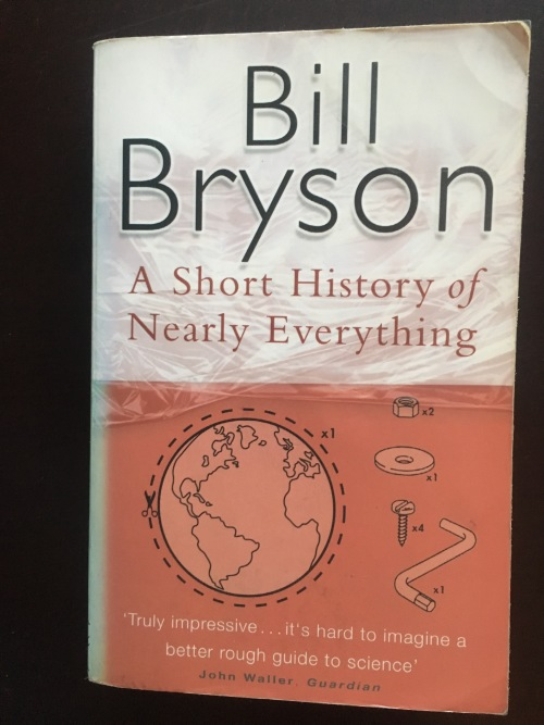Short history of nearly everything reflection