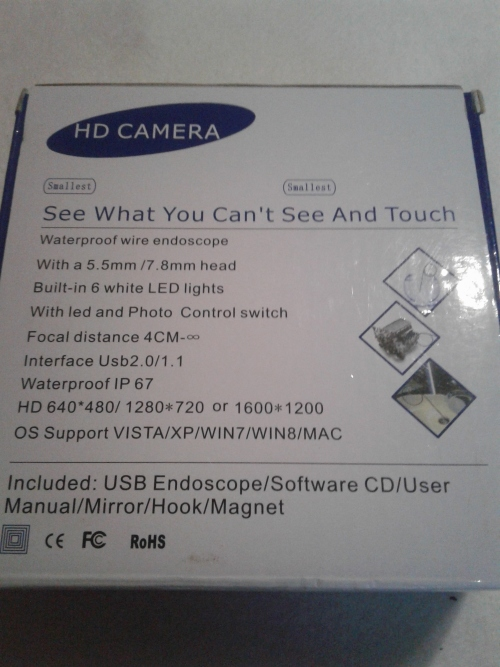 Surveillance Cameras - USB ENDOSCOPE HD CAMERA INCL SOFTWARE was