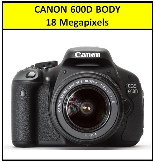 Canon EOS 600D DSLR CAMERA with Canon 18-55 Lens Professional Camera Kit