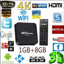 MXQ-PRO 4K TV Box (Supports DSTV Now,Supersport, Showmax, Netflix,Miracast,  Kodi)UPGRADE TO 2GB/16GB