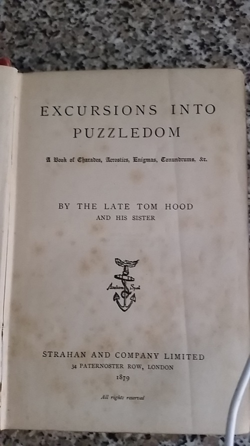 Antiquarian Books - Excursions into Puzzledom: A Book of Charades