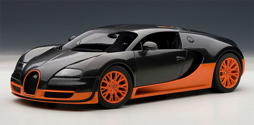 models autoart bugatti veyron super sport black orange. Black Bedroom Furniture Sets. Home Design Ideas