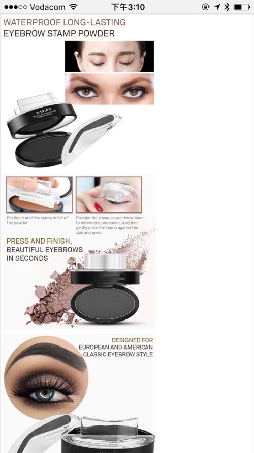 Makeup Sets Eyebrow Stamparch Broweyebrow Powder Set Brown Was